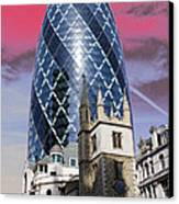 The Gherkin London Canvas Print by Jasna Buncic