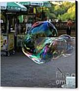 The Giant Bubble At Bethesda Terrace Canvas Print