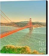 The Golden Gate Bridge  Fall Season Canvas Print by Alberta Brown Buller