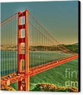 The Golden Gate Bridge Summer Canvas Print by Alberta Brown Buller