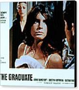 The Graduate, Anne Bancroft, Katharine Canvas Print by Everett