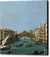 The Grand Canal Canvas Print by Antonio Canaletto