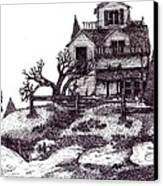 The Haunted House Canvas Print by Joella Reeder