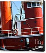 The Hercules . A 1907 Steam Tug Boat At The Hyde Street Pier In San Francisco California . 7d14143 Canvas Print by Wingsdomain Art and Photography