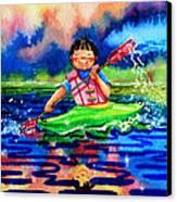 The Kayak Racer 11 Canvas Print