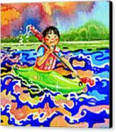 The Kayak Racer 12 Canvas Print by Hanne Lore Koehler