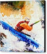 The Kayak Racer 17 Canvas Print by Hanne Lore Koehler