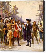 The Landing Of William Penn, 1682 Canvas Print