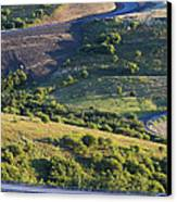 The Landscape Around The Interstate Canvas Print by Don Mason