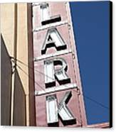 The Lark Theater In Larkspur California - 5d18489 Canvas Print by Wingsdomain Art and Photography