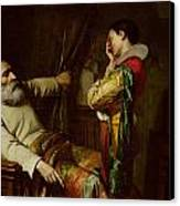 The Last Moments Of Christopher Columbus  Canvas Print by Claude Jacquand