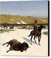 The Last Of The Herd Canvas Print by Henry Francois Farny