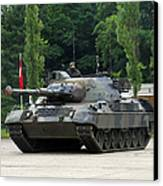 The Leopard 1a5 Mbt Of The Belgian Army Canvas Print