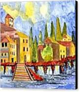 The Little Village Canvas Print by Connie Valasco
