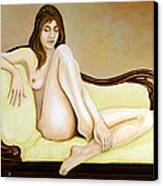 The Long Pose Canvas Print by Tom Morgan