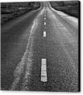 The Long Road Home . 7d9898 . Black And White Canvas Print by Wingsdomain Art and Photography