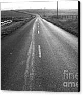 The Long Road Home . 7d9903 . Black And White Canvas Print