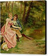 The Lovers Canvas Print by Joseph Frederick Charles Soulacroix