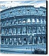 The Majestic Coliseum Canvas Print by Luciano Mortula