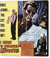 The Man Who Turned To Stone, Victor Canvas Print by Everett