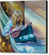 The Mandolin Player Canvas Print by Gilly Marklew