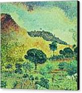 The Maures Mountains Canvas Print by Henri-Edmond Cross