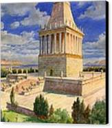 The Mausoleum At Halicarnassus Canvas Print by English School