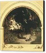 The Midsummer Night's Fairies Canvas Print by Robert Huskisson