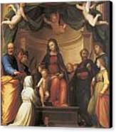 The Mystical Marriage Of Saint Catherine Canvas Print by Fra Bartolomeo