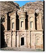 The Nabateian Temple Of Al Deir Canvas Print