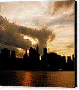 The New York City Skyline At Sunset Canvas Print by Vivienne Gucwa