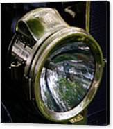 The Old Brass Ford Headlight Canvas Print by Steve McKinzie