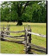 The Old Fence Canvas Print by Valia Bradshaw