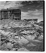 The Old Fisherman's Hut Bw Canvas Print by Heiko Koehrer-Wagner