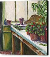 The Old Garden Shed Canvas Print by Judith Whittaker