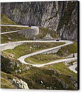 The Old Road To Gotthard Pass Canvas Print by Buena Vista Images