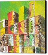 The Old Stack Of Wood Canvas Print by Roy Penny