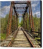 The Old Trestle Canvas Print by Debra and Dave Vanderlaan