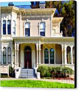 The Old Victorian Camron-stanford House In Oakland California . 7d13440 Canvas Print by Wingsdomain Art and Photography