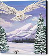 The Owl And The Rat Canvas Print by Phyllis Kaltenbach