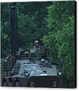 The Pandur Recce Vehicle In Use Canvas Print