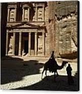 The Pharaohs Treasury Or Khazneh Canvas Print