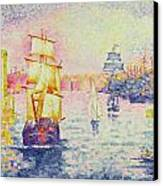 The Port Of Marseilles Canvas Print by Henri-Edmond Cross
