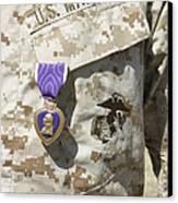 The Purple Heart Award Hangs Canvas Print by Stocktrek Images
