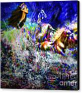 The Queen In Southern Sea Canvas Print by Vidka Art