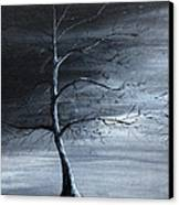 The Raven Piece 1 Of 2 Canvas Print by Gray  Artus