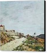 The Road To The Citadel At Villefranche Canvas Print