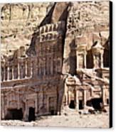 The Royal Tombs Petra, Jordan Canvas Print by Marco Brivio
