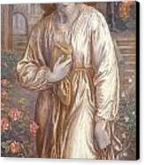The Salutation  Canvas Print by Dante Charles Gabriel Rossetti