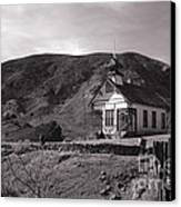 The Schoolhouse In Calico Ghost Town California Canvas Print by Susanne Van Hulst